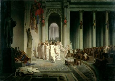 Gerome, Jean Leon: The Death of Caesar. Fine Art Print/Poster. Sizes: A4/A3/A2/A1 (003644)